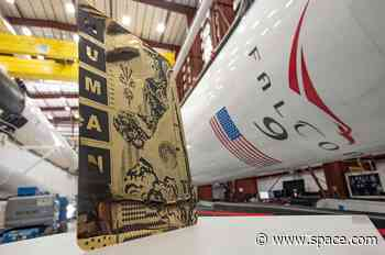 Tristan Eaton's 'Human Kind' art flying on SpaceX astronaut launch