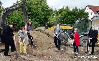 Neuer Kindergarten in Giengen: Baubeginn an der Lederstraße: Bis Ende 2021 soll alles fertig sein - Heidenheimer Zeitung