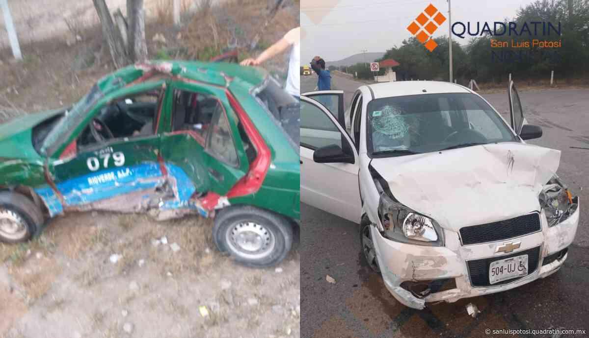 Murió taxista en Rioverde, otro vehículo lo impactó - Quadratín - Quadratín San Luis