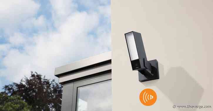 Netatmo made a new outdoor camera with a siren to scare off intruders