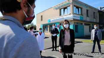 De Lesquin à Avelin, la secrétaire d'État Brune Poirson en quête d'innovation face à la pollution liée aux masques - La Voix du Nord