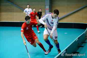 Christoph Steiner (AUT) - playing floorball with safety glasses - IFF Main Site - International Floorball Federation