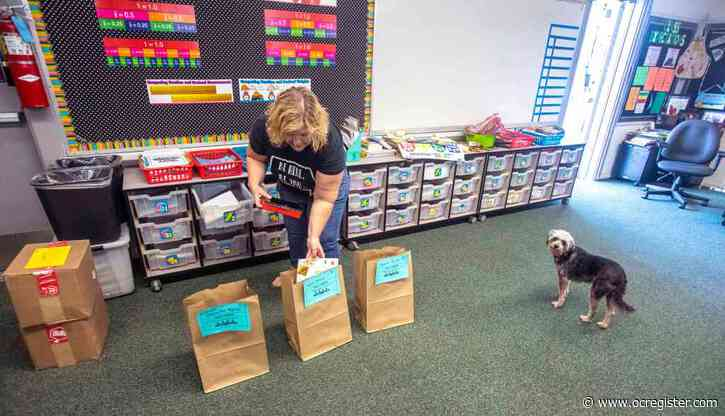 Tustin teacher packs up students' stuff and classroom, bidding goodbye to school year