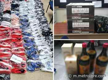 Aduanas decomisó zapatillas, licor y otros artículos en la provincia de Colón - Metro Libre