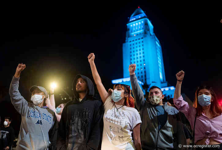 2nd protester hurt in downtown LA Black Lives Matter protest when car drives through marchers