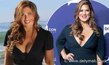 RHOC star Emily Simpson flaunts 15lbs weight loss in a black swim suit as she promotes collection