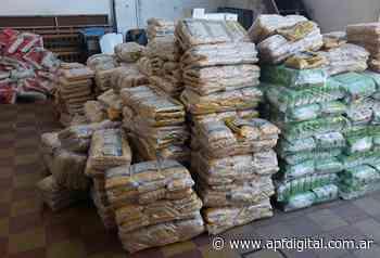 Donaron 600 bolsones de comestibles al Municipio de Concepción del Uruguay - APF Digital