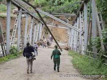 Derrumbe de puente aisla a 7 mil habitantes de Calderas en Barinas - Últimas Noticias