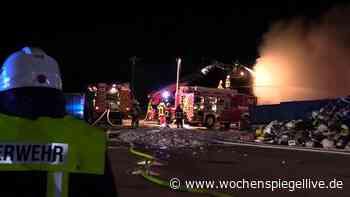 Großbrand bei Recyclingunternehmen in Baumholder - WochenSpiegel