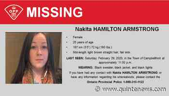 Body discovered in water identified as missing Campbellford woman - Quinte News