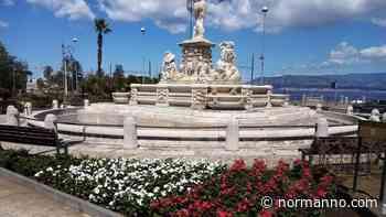 Messina. Riattivata la Fontana del Nettuno, e le aiuole si tingono di verde, bianco e rosso – FOTO - Normanno.com