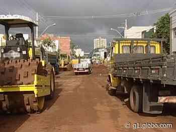 Trecho da Avenida Santos Dumont em Uberaba ganha nova rede de esgoto - G1