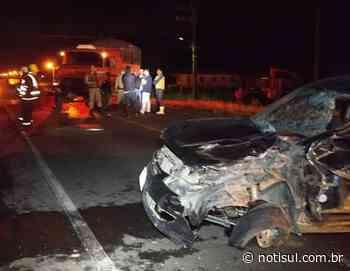 Homem fica preso às ferragens em acidente em Jaguaruna - Notisul