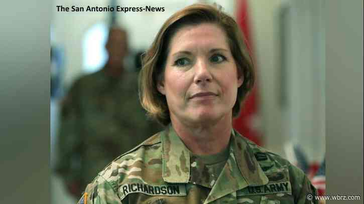 U.S. Army's first female combat arms general officer visits BR Food Bank