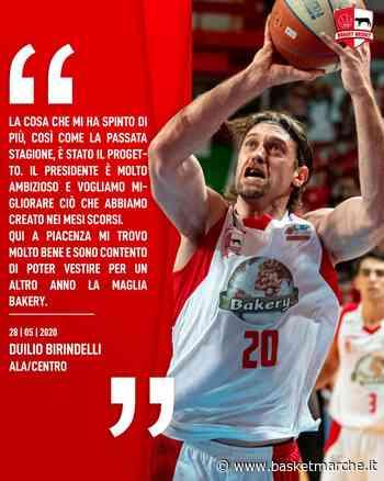 Ufficiale, Duilio Birindelli è la prima conferma della Bakery Piacenza - Serie B Girone C - Basketmarche.it