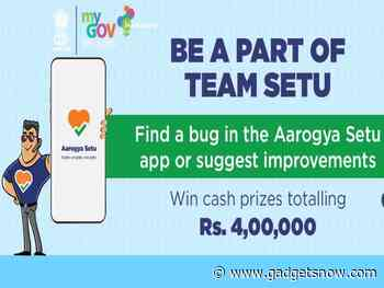 Techies, government will pay you up to Rs 4 lakh to 'improve' Aarogya Setu app: All details - Gadgets Now