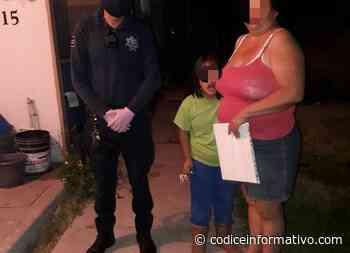 Policías encuentran a niña deambulando sola en La Pradera en plena madrugada - Códice Informativo