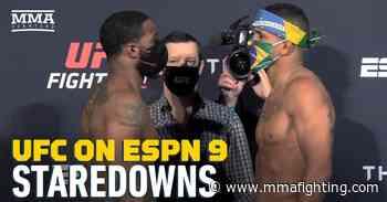 Video: UFC on ESPN 9 weigh-in staredowns