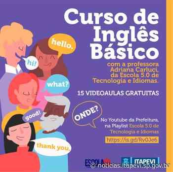 Videoaulas do curso de Inglês Básico estão disponíveis - Agência Itapevi