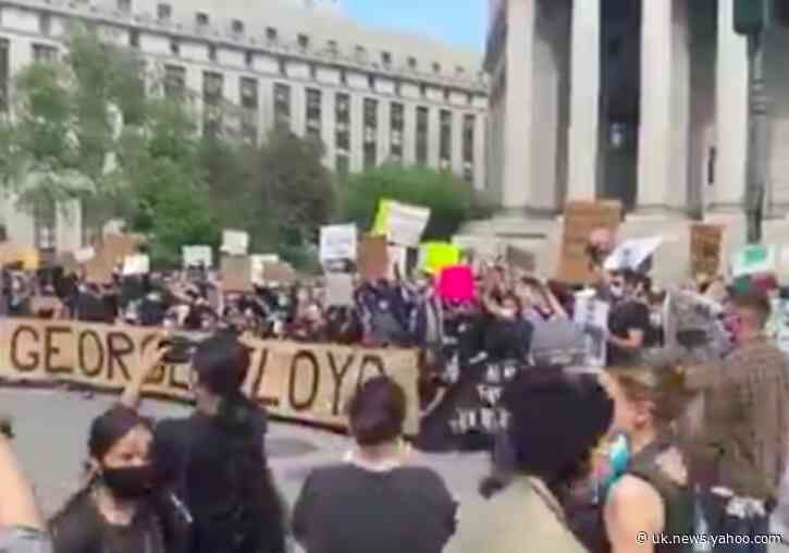 Demonstrators in New York's Foley Square Protest Death of George Floyd