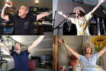 Robbie Williams and Take That reunite for Meerkat Music concert