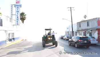 Sanitizan colonias en Nueva Rosita [Coahuila] - 28/05/2020 - Periódico Zócalo