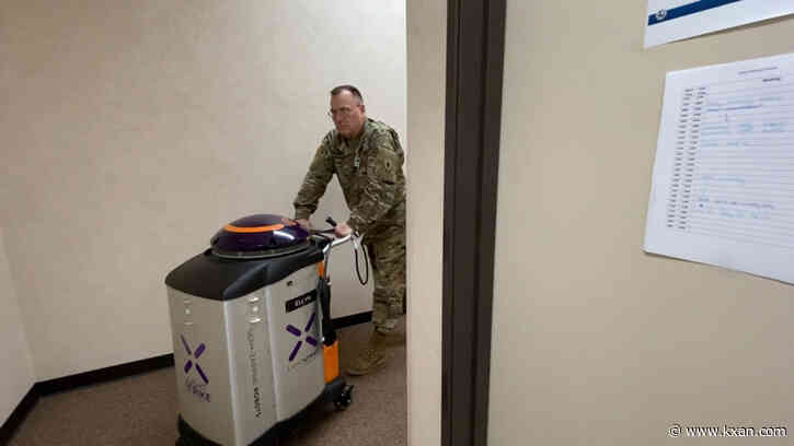 Protecting our protectors: TDEM deploys disinfectant and Texas-based tech to sanitize State Operations Center