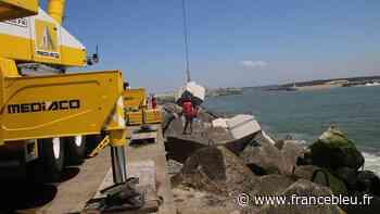 Port de Bayonne : la digue de Tarnos consolidée en urgence avant de plus lourds travaux à l'automne - France Bleu