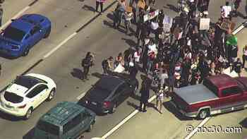 WATCH LIVE: George Floyd protest moves through San Jose streets after shutting down Hwy 101