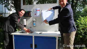 Wochenmarkt in Gaildorf: Hände waschen vor und nach dem Einkauf - SWP