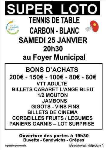Super loto au Foyer municipal Foyer municipal Foyer municipal 25 janvier 2020 - Unidivers