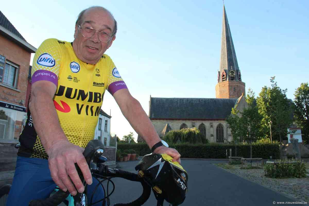 """'Werkloze' pastoor fietst elke dag zijn coronaroute in gesigneerd truitje na dubbele operatie: """"Ik zit al aan 4.000 km"""""""