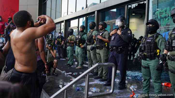 Furious Demonstrators Swarm CNN Center in Atlanta