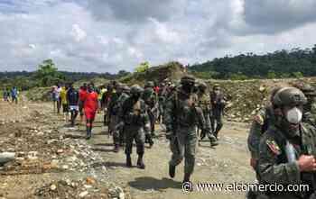 Fuerzas Armadas intervienen frente minero en el norte de Esmeraldas