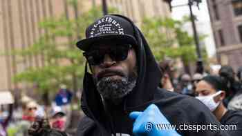 Stephen Jackson speaks at rally for George Floyd, defends character of man he calls 'his twin'
