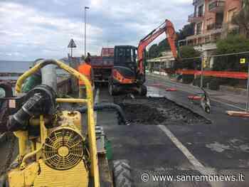 Imperia: ennesima rottura di un tubo in via Novaro, disagi per gli utenti nel dianese (foto e video) - SanremoNews.it