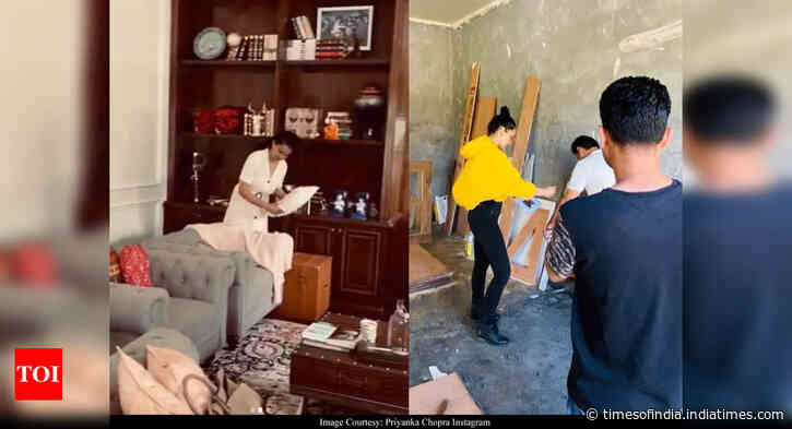 Kangana helps set up Rangoli's new house