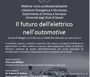 Oggi (29/05) alle 15 webinar a Uni Sassari con Di Stefano (FCA) - Vaielettrico.it