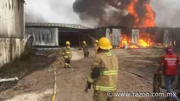 Se incendia bodega de huachicol en Cárdenas, Tabasco - La Razon