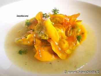 #quarantenasuifornelli - Tortellini ripieni di baccalà mantecato su crema di topinambur - newsbiella.it
