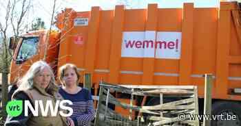 """Wemmel plaatst afgedankte (vuilnis)wagens tegen tuinen van inwoners: """"Dat is hier geen autokerkhof"""" - VRT NWS"""