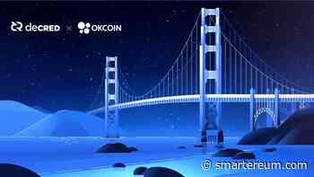 Decred (DCR) Gets Listed on US Exchange OKCoin; Gets Fiat Trading Pairs - Smartereum