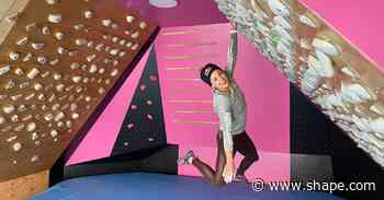 This Pro Climber Casually Transformed Her Garage Into a Climbing Gym to Train During COVID Lockdown - Shape Magazine