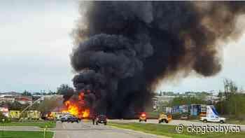 RCMP seek witnesses to fiery, fatal tanker crash near Fort St John - CKPGToday.ca