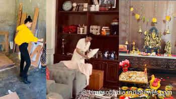 Kangana Ranaut decorates sister Rangoli Chandel's house in Kullu, watch video