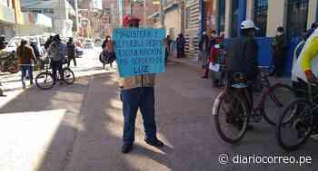 Profesores protestan contra Electro Puno en Juliaca - Diario Correo