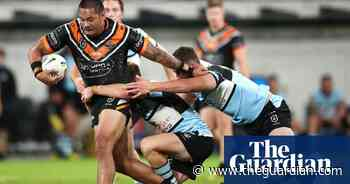 NRL roundup: Wests Tigers compound Sharks woes with second-half comeback
