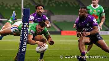 Live NRL: Raiders recruit on fire as players fly in fast, frantic thriller against Storm
