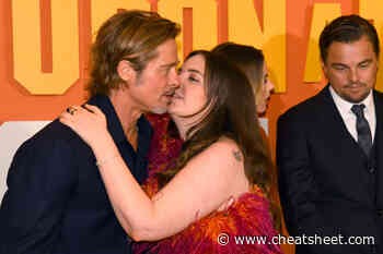 The Full Story Behind Lena Dunham's 'Awkward' Viral Brad Pitt Kiss - Showbiz Cheat Sheet