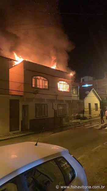 Incêndio atinge casa residencial em Domingos Martins - Jornal Folha Vitória